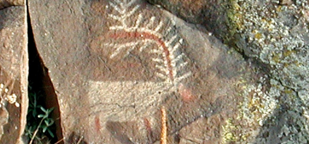 Pictograph found along the route of Lewis and Clark