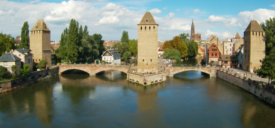 Strasbourg, along the Rhine River