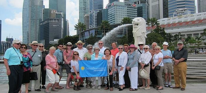 Smithsonian travelers in Singapore. Credit: Dawn Rooney