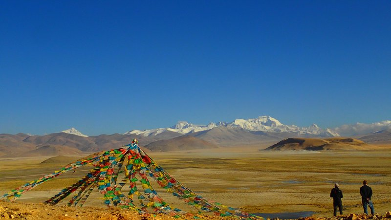 Caption: The Tibetan Plateau is the tallest region of the world, reaching higher than 14,000 feet above sea level.