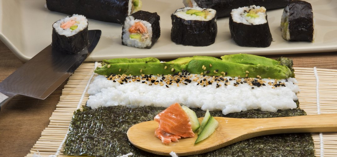 Learning to make traditional sushi