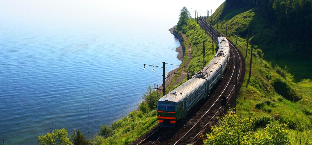 The Trans-Siberian Express approaches Lake Baikal