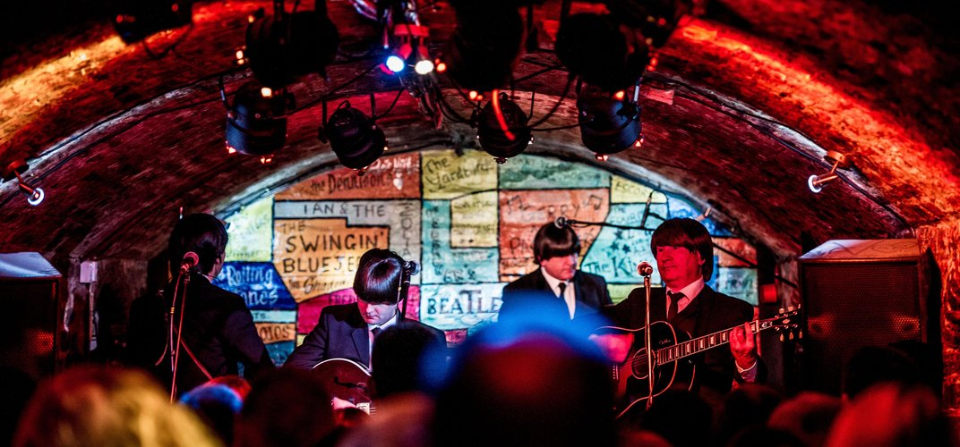 The Cavern Club, the venue where The Beatles began to form their identity