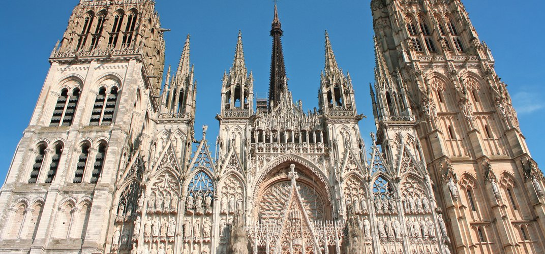 The cathedral in Rouen