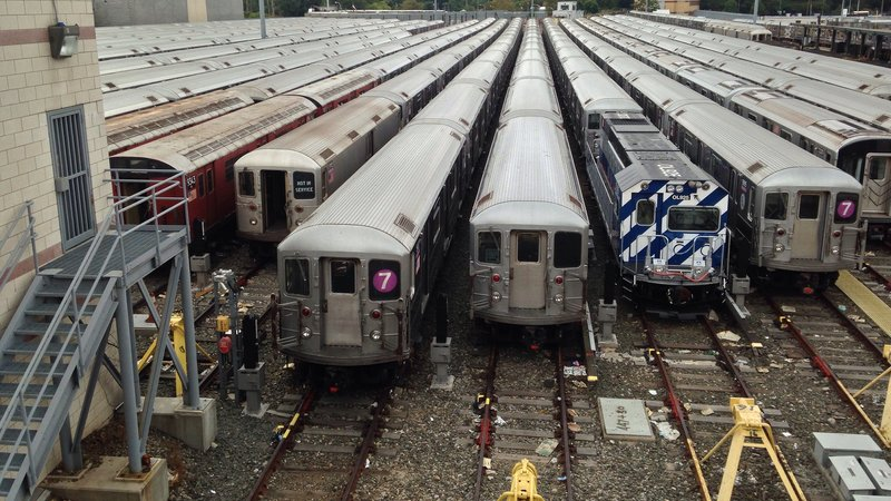 The NYC subway is one of the largest underground rail systems in the world.