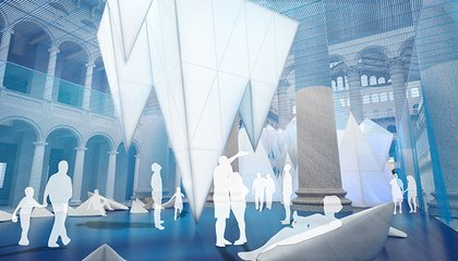 A Maze of Palatial Icebergs Has Floated Into a Washington, D.C. Museum