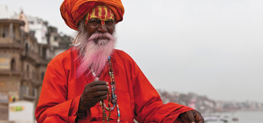 Holy man along the Ganges River