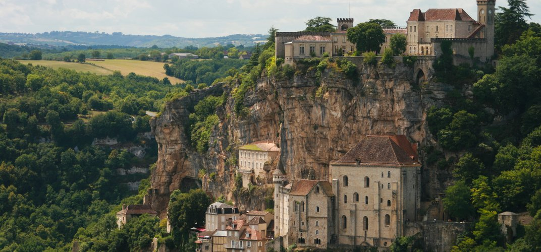 The medieval village of Rocamadour, a World Heritage site