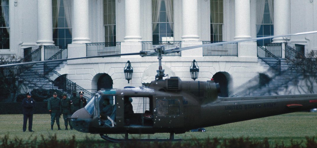 Caption: This Stolen Helicopter Landed at the White House