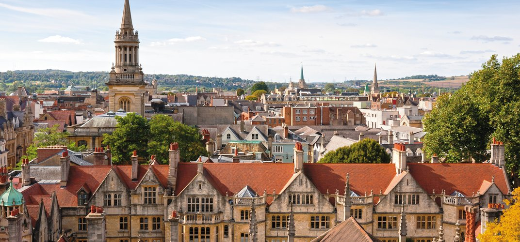 Skyline of the medieval town of Oxford