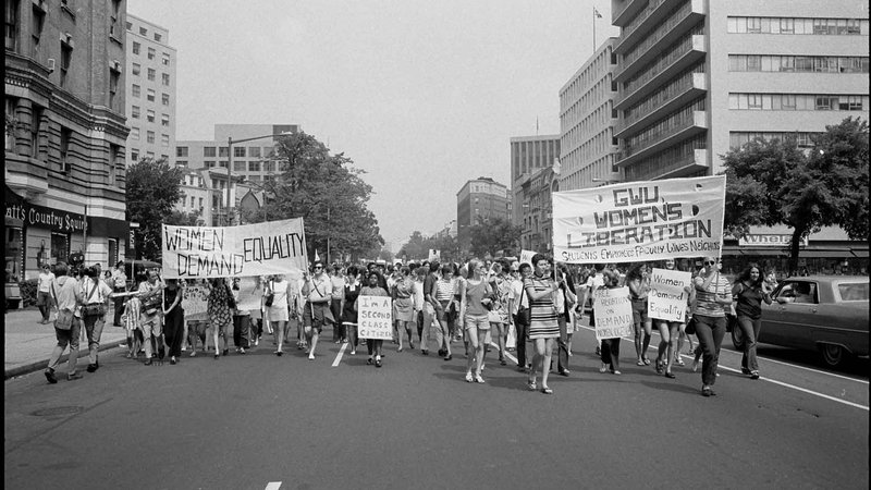 A Women's Liberation March in Washington, D.C., 1970
