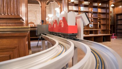 This Speedy, Wall-Crawling Conveyor System Will Now Deliver Books at the New York Public Library
