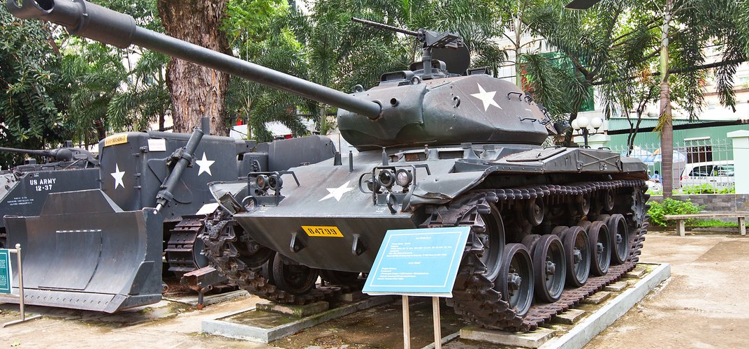 M41 Walker Bulldog Tank at the War Remnants Museum in Ho Chi Minh City