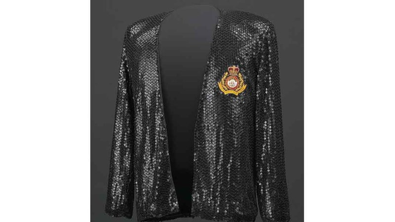 Michael Jackson wore this jacket designed by Bill Whitten during the