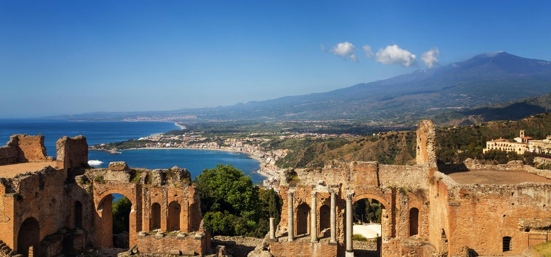 The famous Greek theater of Taormina