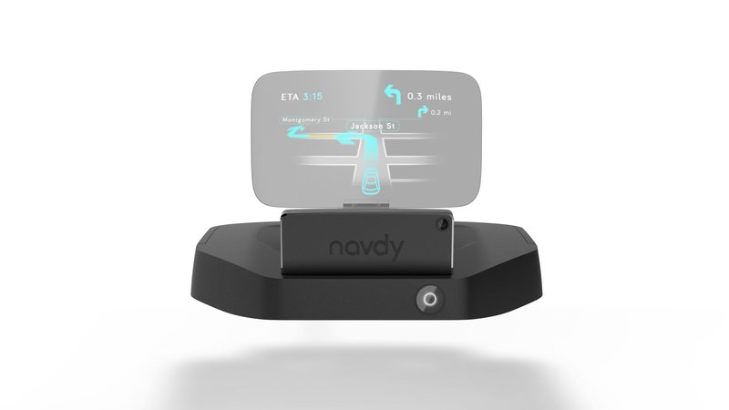 A dash-mounted display keeps drivers eyes on the road.