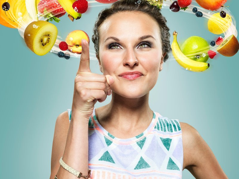 Woman Thinking of Healthy Food