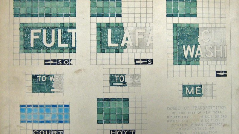 Green tile details for the IND Fulton Street and Crosstown Lines.