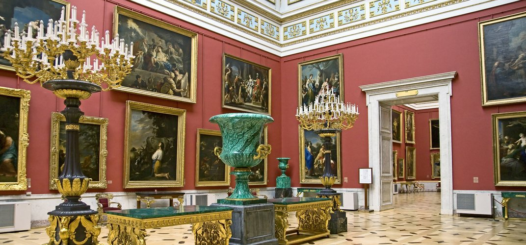 Gallery inside the world-class Hermitage Museum