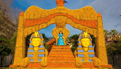 This French Town Is Covered in Citrus Sculptures