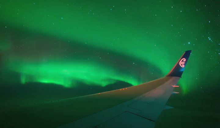 Flight Takes Passengers to See the Southern Lights