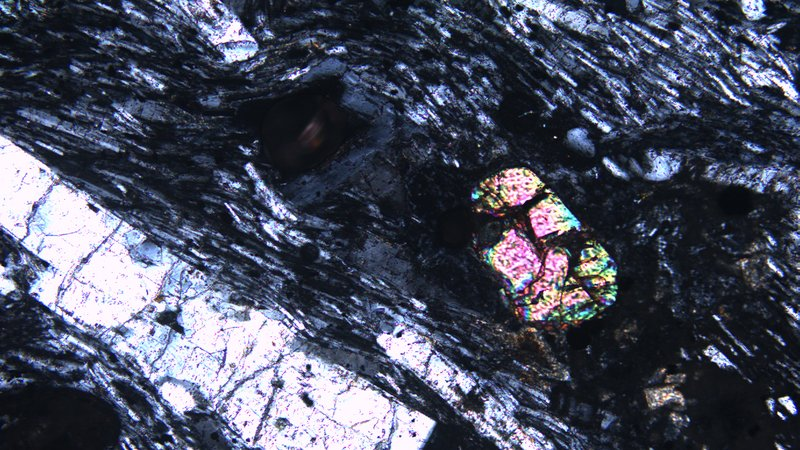 One of the 3-billion-year-old zircon crystals discovered on Mauritius
