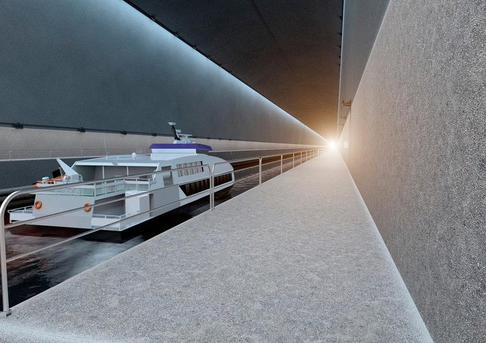 Caption: Norway Proposes Mile-Long Tunnel for Ships