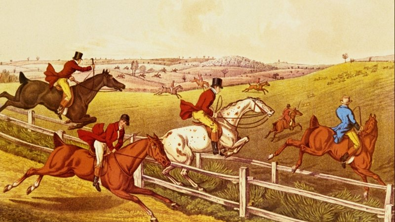 Like fox-hunting, which as this image shows was a fairly active pastime.