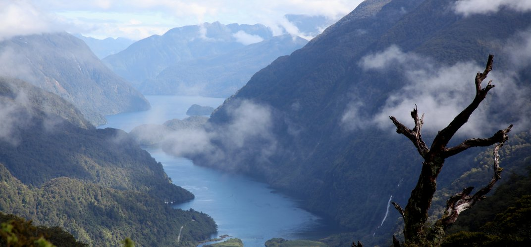 View of the dramatic Doubtful Sound