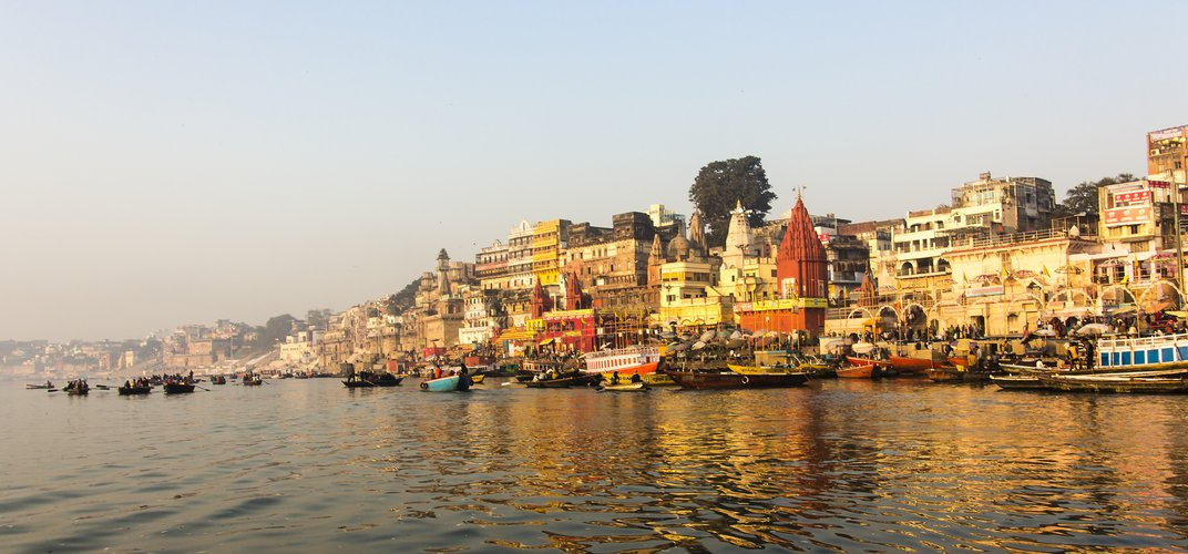 The ghats along the Ganges River, Varanasi