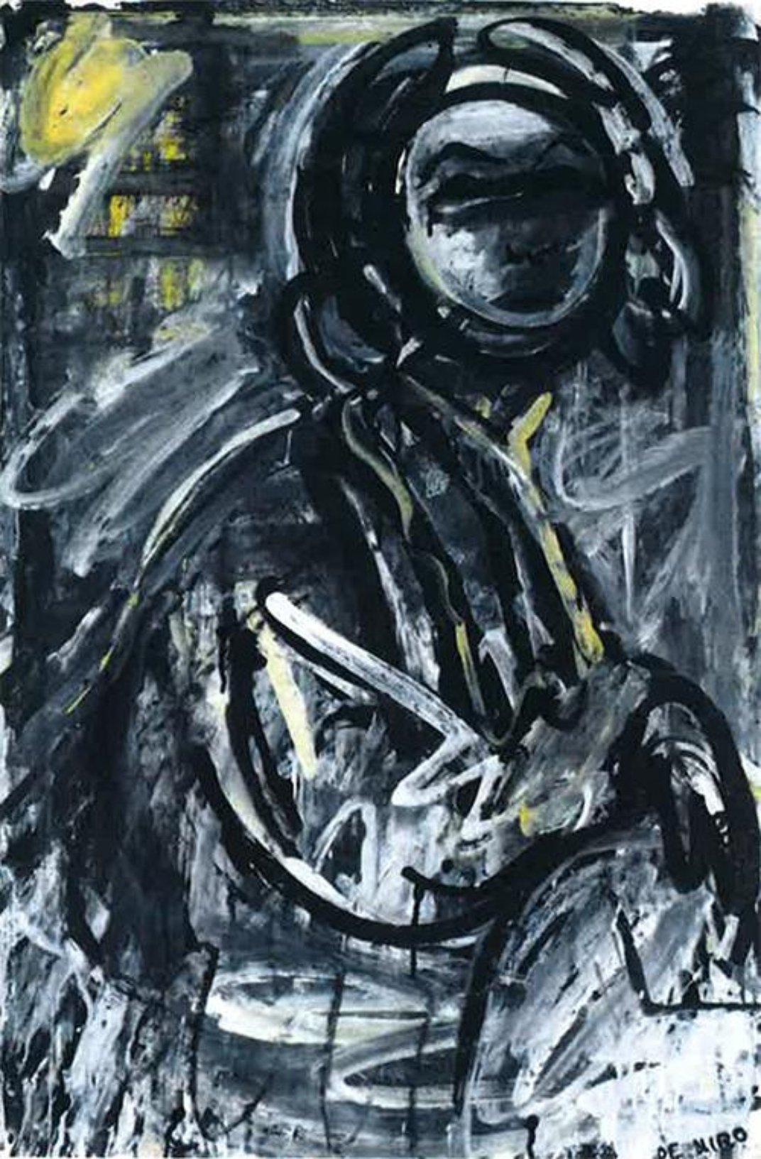 <em>Lola Montez with Cigarette</em>, 1958-59. Gouache and ink on paper, 36 x 24 inches