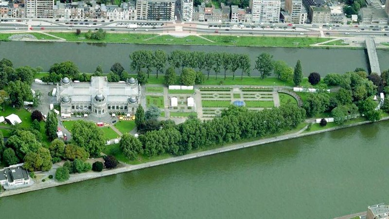 The Boverie, situated on a river island in Liege, Belgium.
