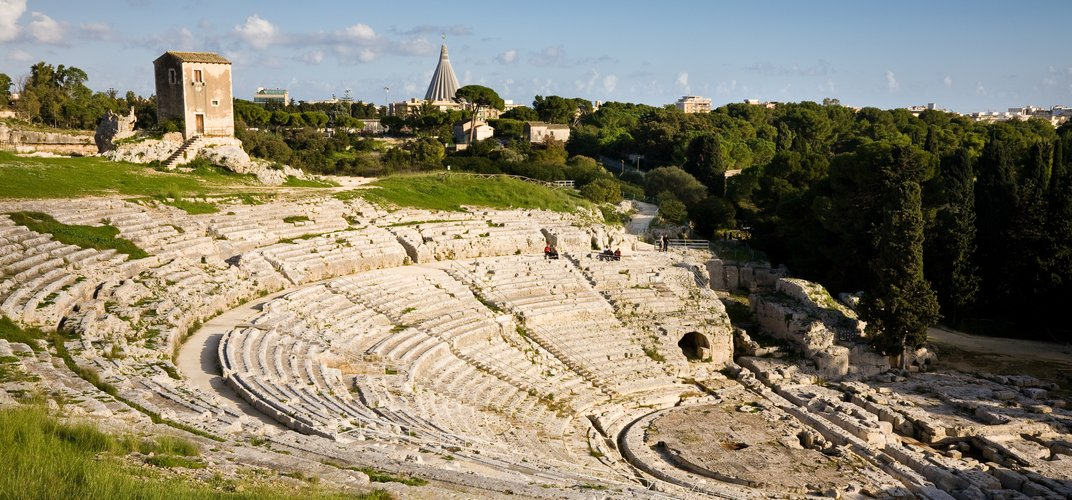 The ancient theater in Syracuse