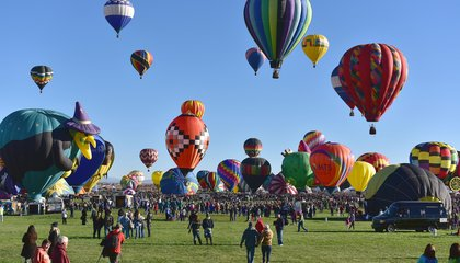 New Mexico's Skies Burst With Color During World's Largest Hot Air Balloon Festival
