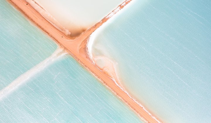 Salt Ponds From Above