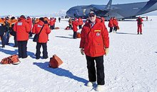 G Wayne Clough in Antarctica