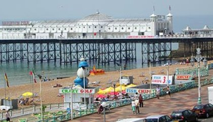 Brighton England beach
