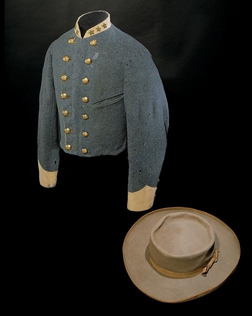 John Singleton Mosby Cavalry jacket and hat