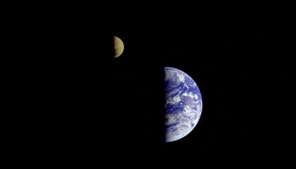 "Earth-Moon: A Watery ""Double-Planet"""
