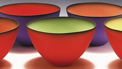 Luminescent bowls by Emily Rossheim