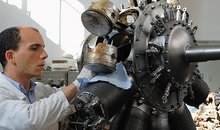 Giuseppe Genchi, who found a trove of engine parts at the University of Palermo, spent countless hours restoring an 11-cylinder rotary engine from World War I.