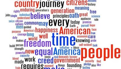 Behind Inaugural Speeches, Meaningful Words