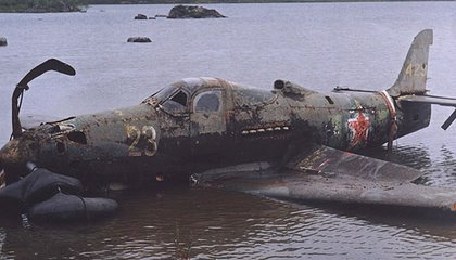 In 2004, salvagers pulled a Bell P-39 from a Siberian lake, where 60 years earlier pilot Ivan Baranovsky had crash-landed it.