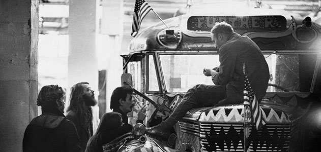 Ken Kesey on bus