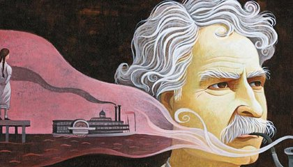 Mark Twain and Laura Wright