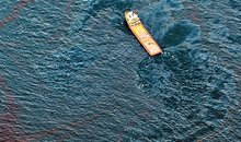 Workboat near site of damaged Deepwater Horizon platform