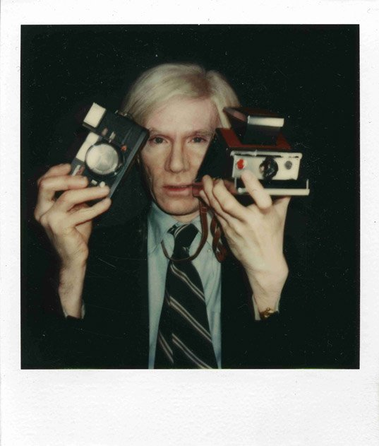 Andy with SX-70 and Konica