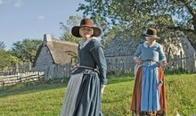Plimoth Plantation Women Drying Laundry