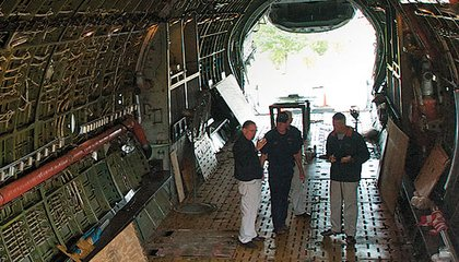 In the 86-foot-long cargo bay, former crewmen recall the hardware a C-133 could lift.