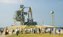 Space shuttle Atlantis was poised for its final mission in May as photographers jostled for position.